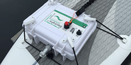 Current Drives Electrafin Battery Box Mounted To Sup