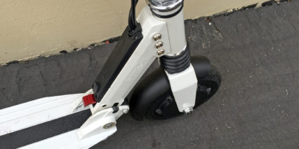 E Twow Scooter Red Folding Lever And Charge Port