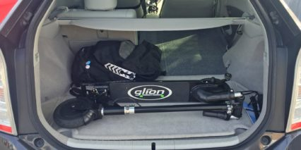 Glion Scooter Model 200 Dolly In Car Trunk