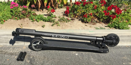 Momas Carbon Electric Scooter Folded