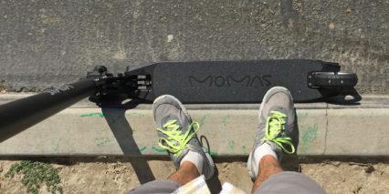 Momas Carbon Scooter Deck Size